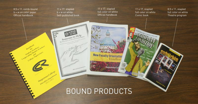 Bound Products available from the Copy Center