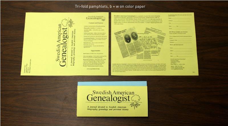 Tri-fold pamphlets