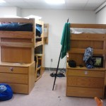 my bed (on right) and a roommates
