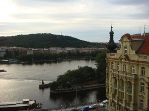 View from the balcony (Petrin in the background)