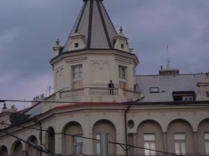 Paul standing on the balcony