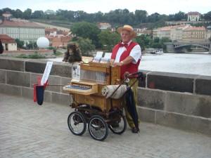 Organ Grinder on the Charles Bridge!