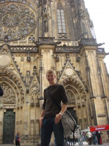 Me in front of the Veitsdom