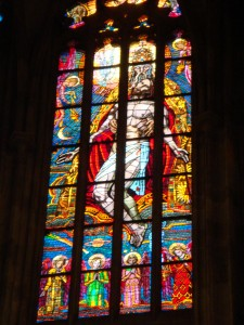 Glass windows inside the dom
