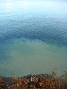 See that cloudy water? That is what happens when chalk washes into the sea.