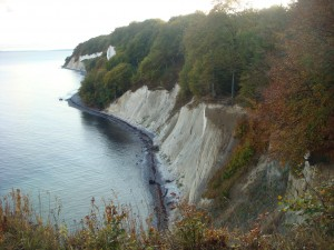 The view of the cliffs from up top while hiking