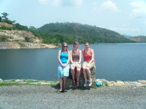 Jessica, Meggie, and me at Lake Volta
