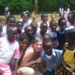 Children from a nearby school that we met at one of our bus stops.  They were so excited!
