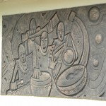 Stone carving outside the Ghana National Museum