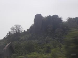 Landscape on the way to Akosambo Dam