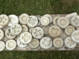 Some of the clay molds we used