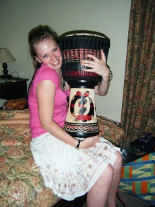 Random image of me with my favorite purchase of Accra!