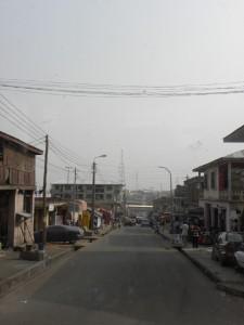 A street of Kumasi