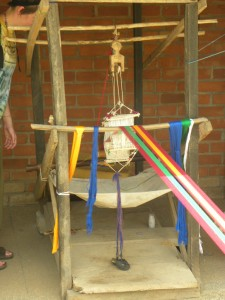 A kente loom