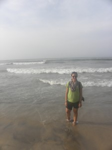 Me on the beach at our hotel in Cape Coast