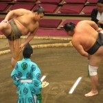 Sumo-Stomping to scare off the evil kami
